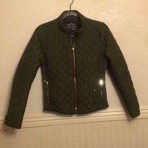 Shinestar Army Green Quilted Jacket Size Small